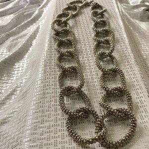 Melania Trump Silver Toned Link Necklace